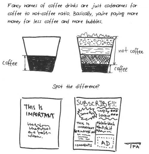 Комикс кафе и ненужни реклами
