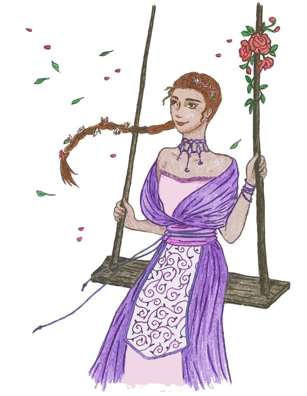 Принцеса Касис, илюстрация