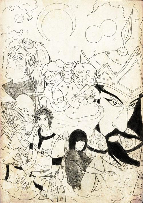 Спътници – корица на книга, илюстрация от Виктория Николова