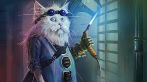 Котка инженер илюстрация